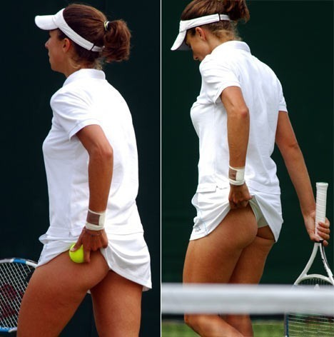 Tennis upskirt photo frame nice thongs in the ass