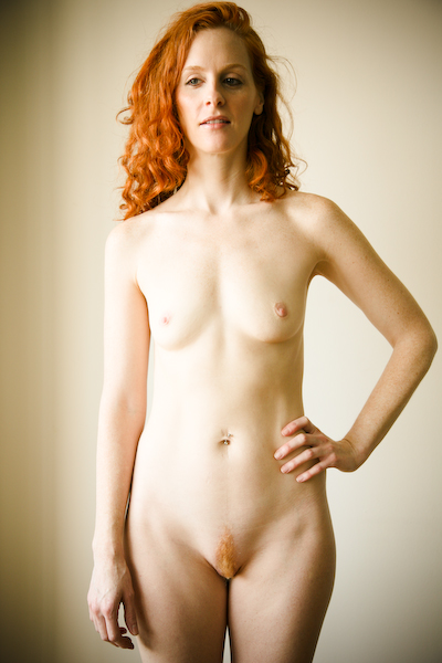 Redhead with hairy pussy